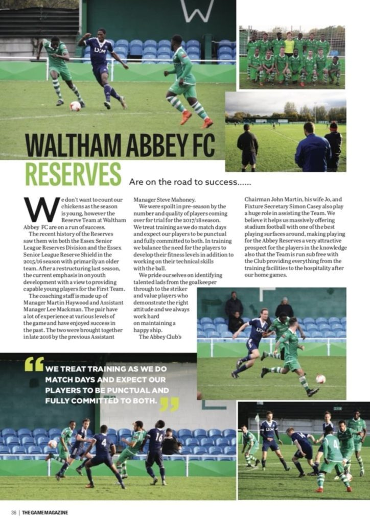 Waltham Abbey Article 2